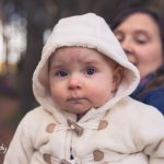 Baby girl looking at camera - Leith Hall, Aberdeenshire